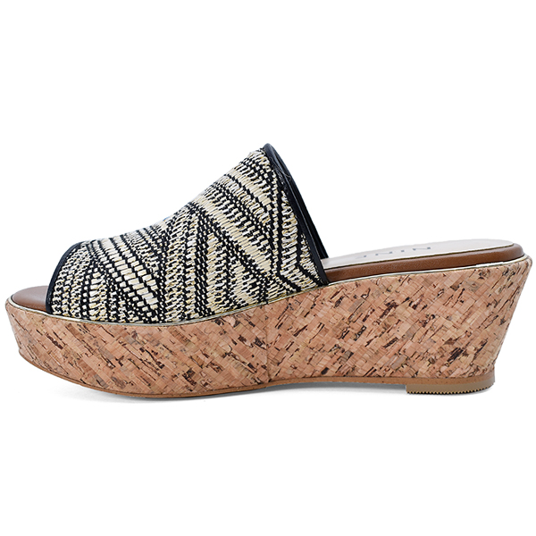 Cork Wedge Sandal/マルチ
