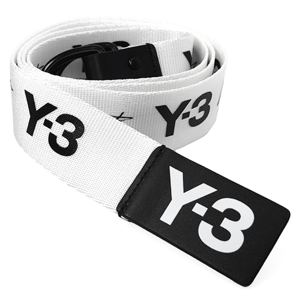 Y-3 YOHJI BELT/BLACK/WHITE