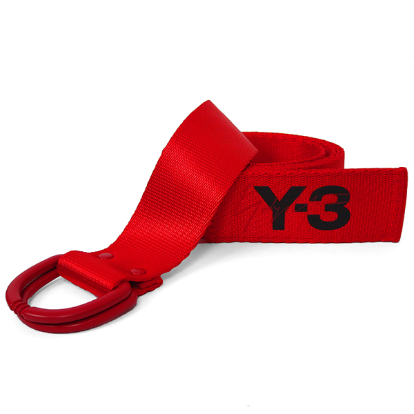 Y-3 LOGO BELT/RED