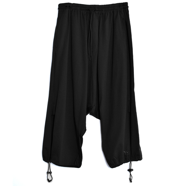 DRAWSTRING 3/4 PANTS/BLACK