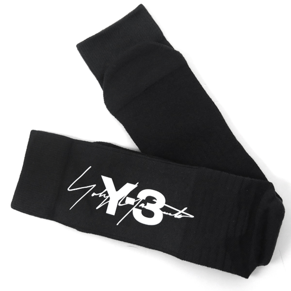 Y-3 TUBE SOCK/BLACK/WHITE