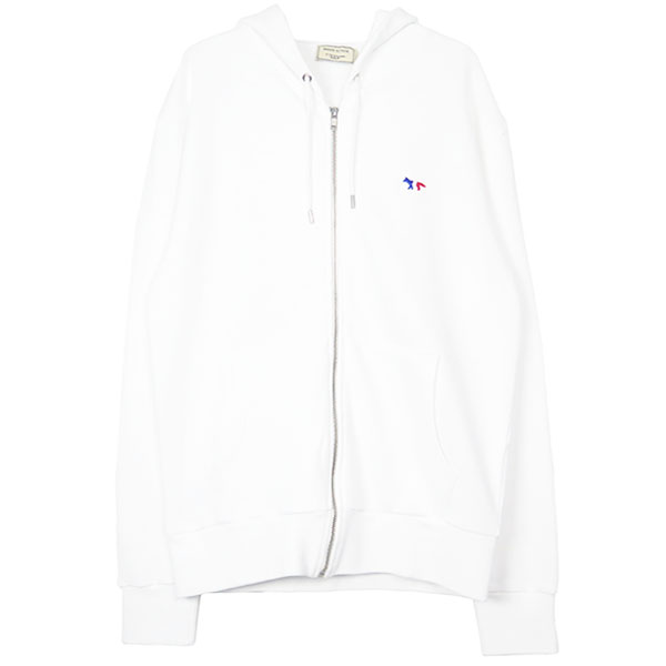 ZIP HOODED TRICOLOR /WHITE