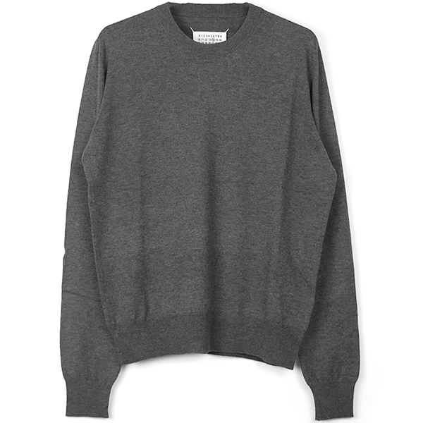 ELBOW PATCH SWEATER/GRAY