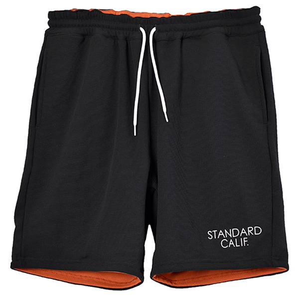 SD Dry Waffle Thermal Reversible Shorts/BLACK×ORANGE
