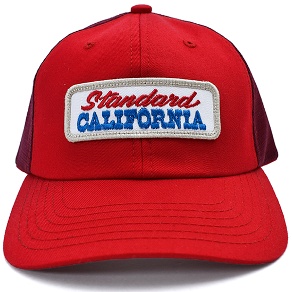 SD Logo Patch Mesh Cap/RED