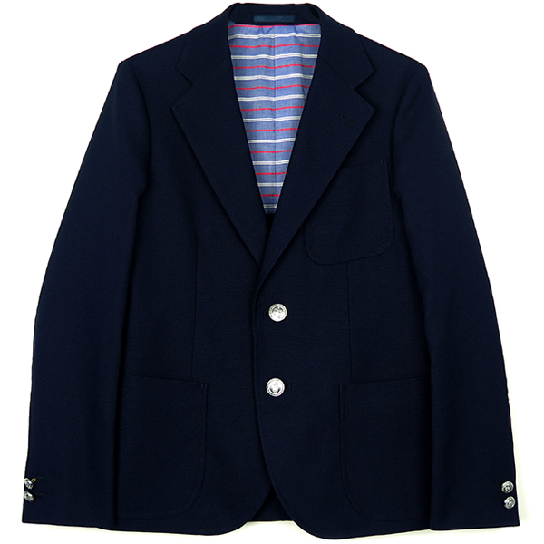 NEW HOPSACK JACKET/NAVY(STRETCH FABRIC)(TSJJ-94502-01)