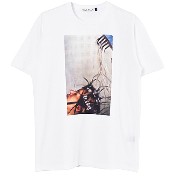 TEE LARMS/WHITE