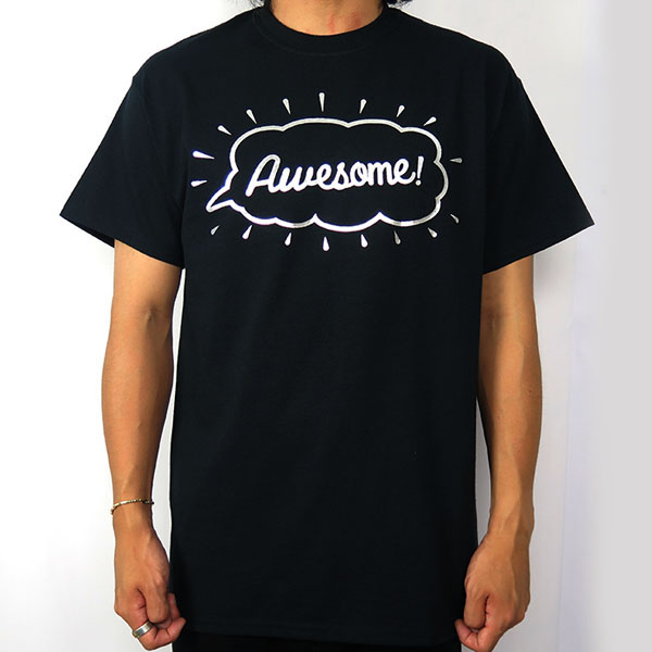 Tee -Awesome-/black×silver