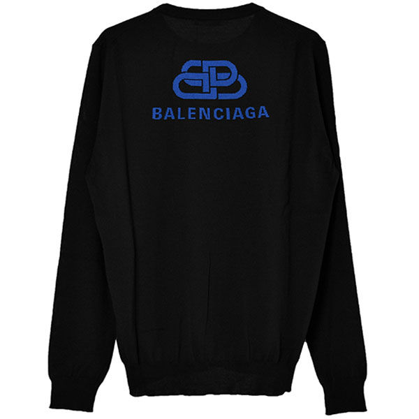 BB LOGO KNIT SWEATER/BLACK/BLUE