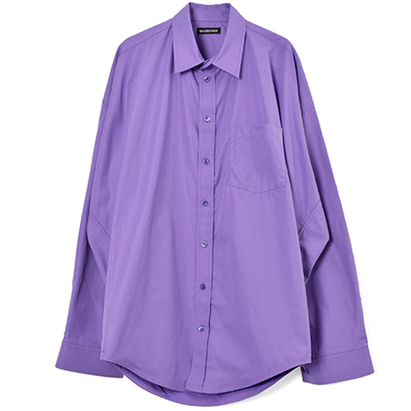 COCOON SHIRT/LIGHT PURPLE