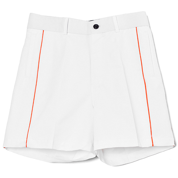 PIPPING SHORTS/WHITE