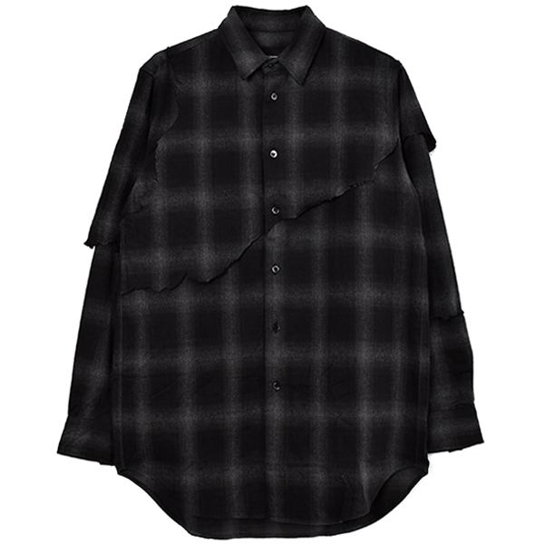 LAYERED DESTROY SHIRTS/BLACK