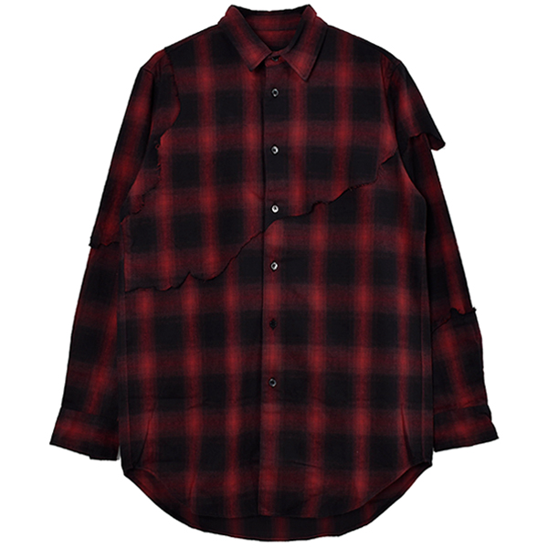 LAYERED DESTROY SHIRTS/RED