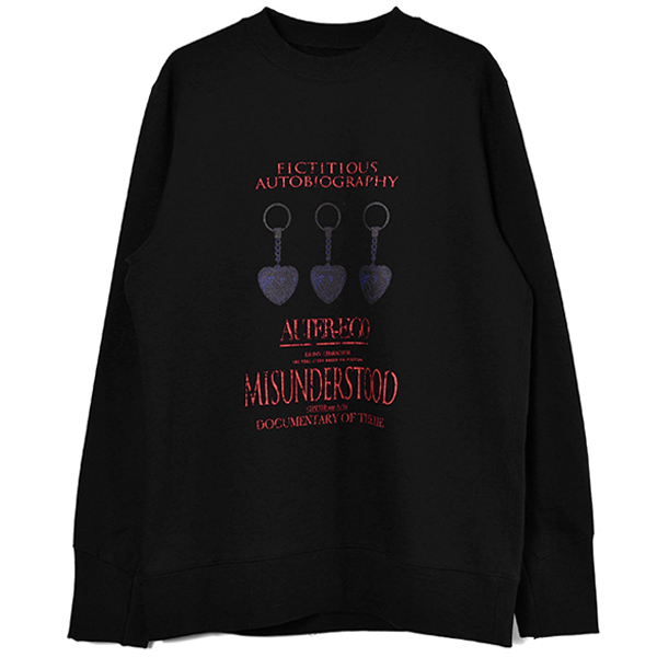 MYSTERY GRAPHIC SWEAT SHIRTS/BLACK