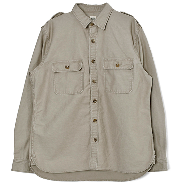 Back Stain Shirt/BEIGE