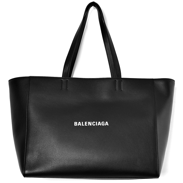 LEATHER TOTE/BLACK
