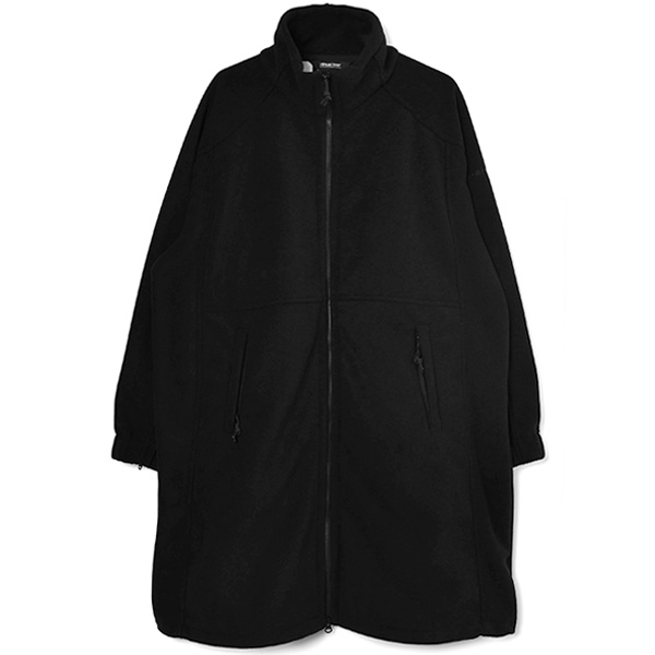 FLEECE COAT/BLACK