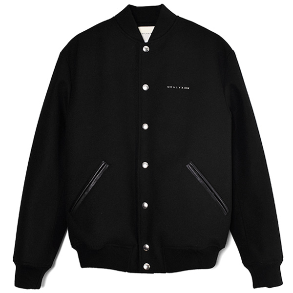 WOOL VARSITY JACKET/BLACK