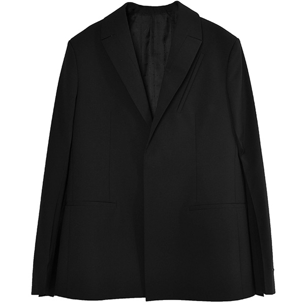 LAPEL POCKET BLAZER/BLACK