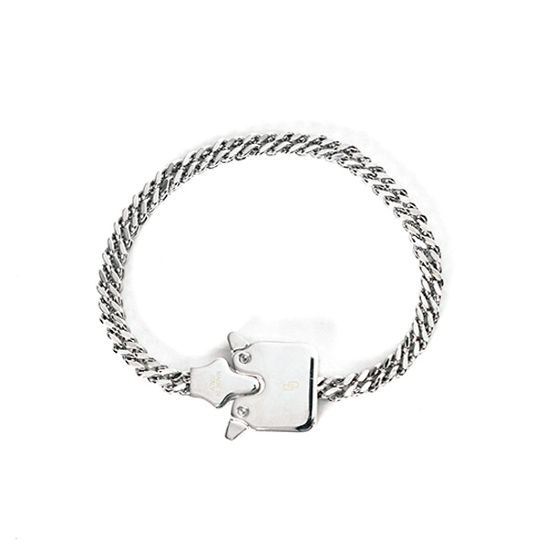 MINI CUBIX CHAIN BRACELET/SILVER SHINY