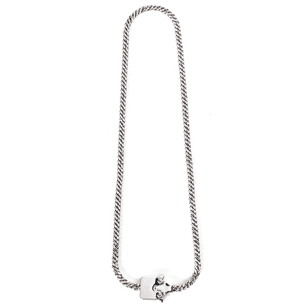 MINI CUBIX CHAIN NECKLACE/SILVER SHINY