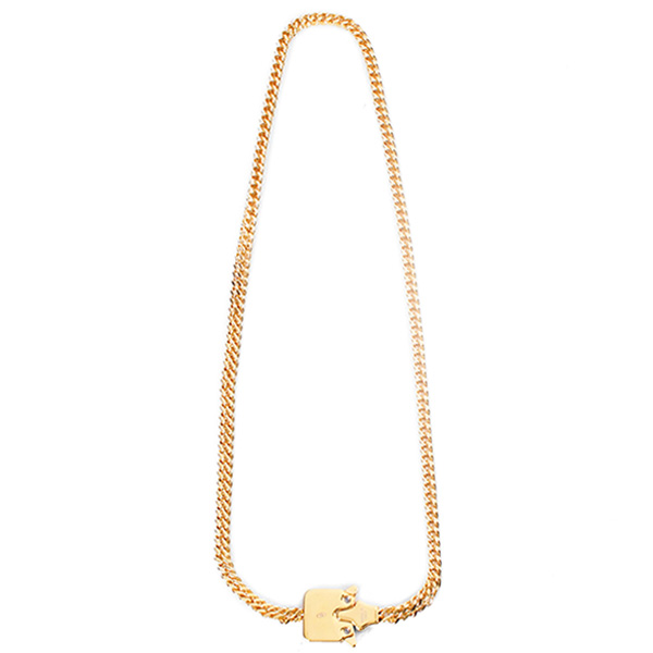 MINI CUBIX CHAIN NECKLACE/GOLD SHINY