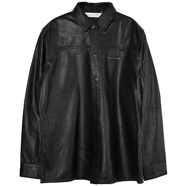 DRAKE LEATHER SHIRT/BLACK