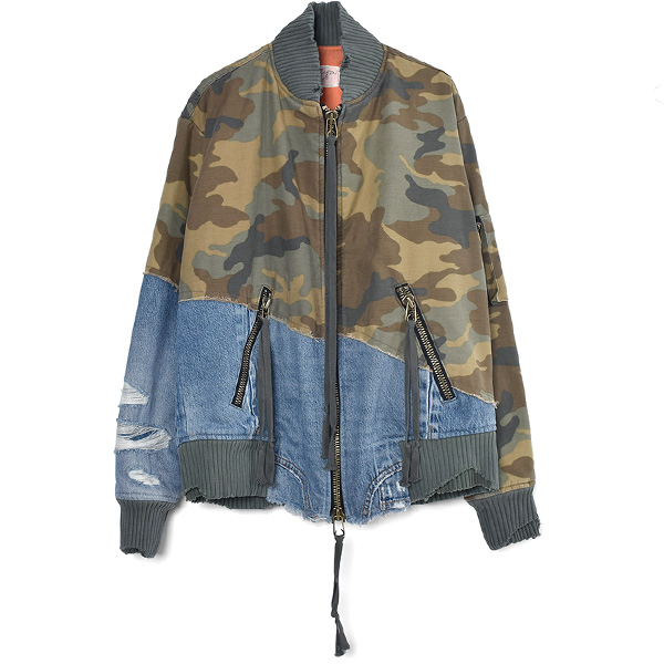 CAMO 50-50 FLIGHT JACKET/GREEN CAMO