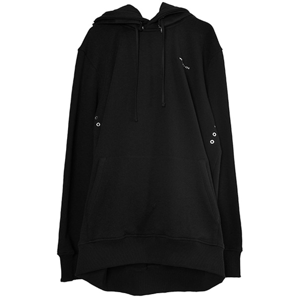 MACKINTOSH METAL LOGO HOODIE/BLACK