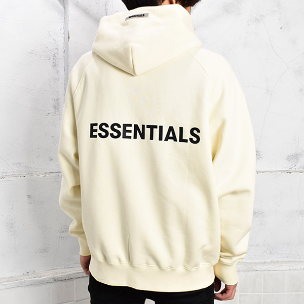 BACK LOGO FULL-ZIP HOODIE/CREAM