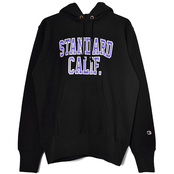 Champion × SD Reverse Weave Hood Sweat/BLACK