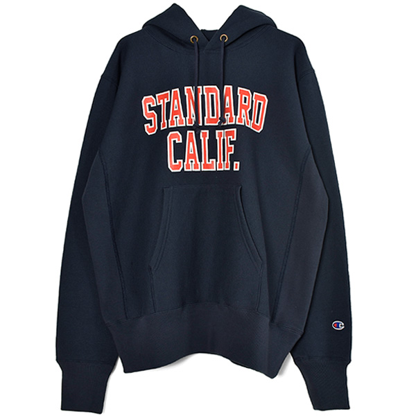 Champion × SD Reverse Weave Hood Sweat/NAVY