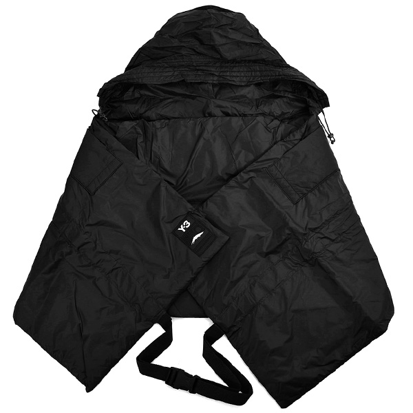 Y-3 CH3 NYL HOODED SCARF/BLACK