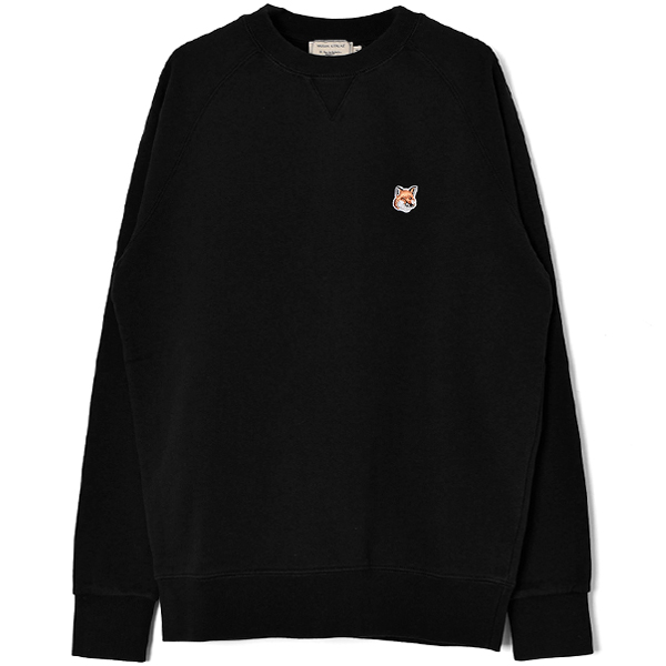 SWEATSHIRT FOX HEAD PATCH/BLACK