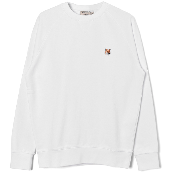 SWEATSHIRT FOX HEAD PATCH/WHITE