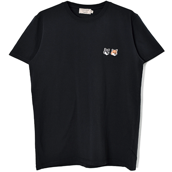 TEE-SHIRT DOUBLE FOX/CHARCOAL