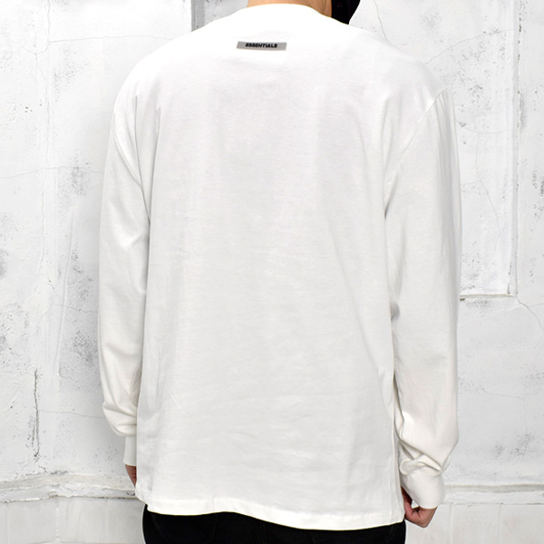 NEW FRONT LOGO LONG SLEEVE T-SHIRT/WHITE