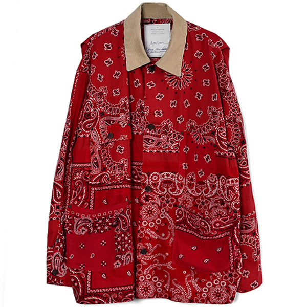 BANDNA BURN COAT/RED