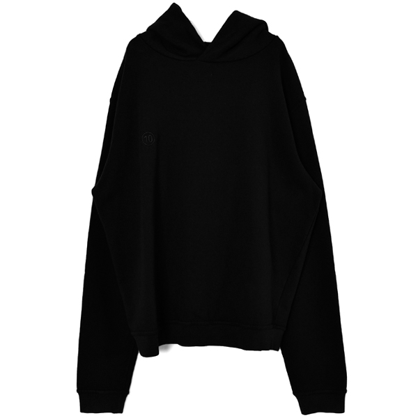 PUNCH HOLE SWEAT HOODIE/BLACK
