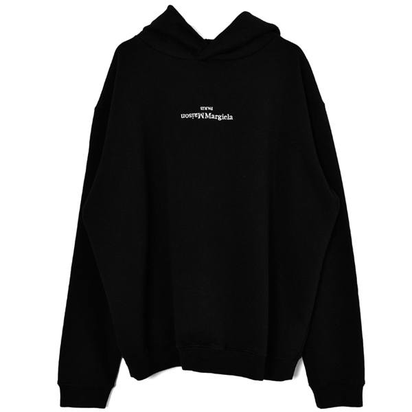 LOGO EMBROIDERY SWEAT HOODIE/BLACK