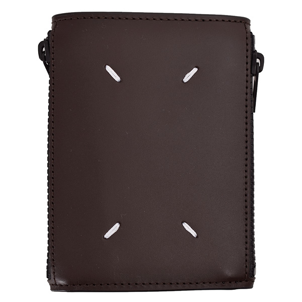 3 FOLD WALLET/DARK BROWN