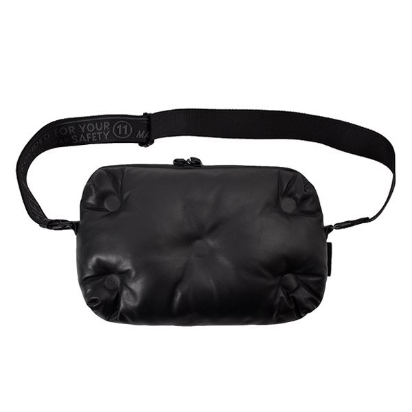 LEATHER SACOCHE BAG/BLACK