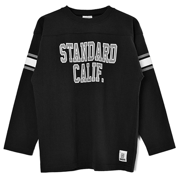 SD Heavyweight Football Long Sleeve T/BLACK