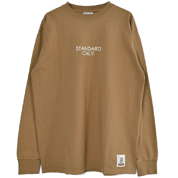 SD Heavyweight Long Sleeve T with Logo/BEIGE