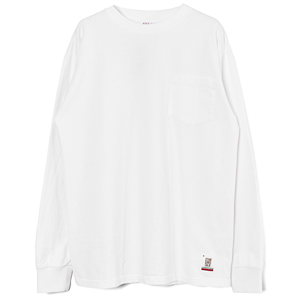 SD Heavyweight Pocket Long Sleeve T/WHITE