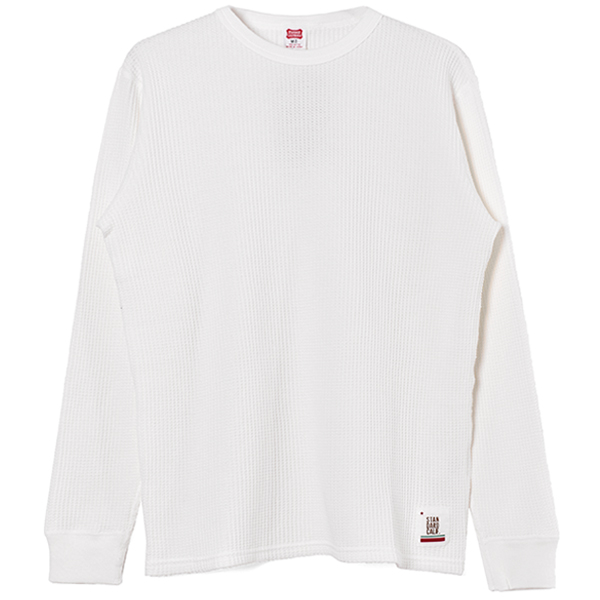 SD Waffle Thermal Long Sleeve T/WHITE