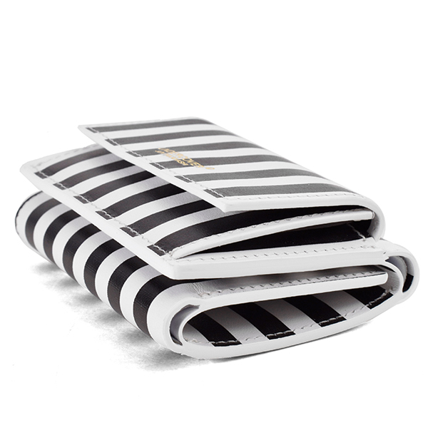 MINI WALLET/BLACK STRIPE