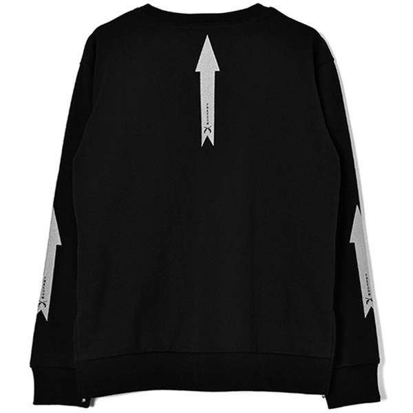REFLECTOR PRINT SWEAT SHIRT/BLACK