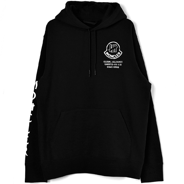 [MONCLER GENIUS 2 MONCLER 1952 × UNDEFEATED]SWEAT HOODIE/BLACK