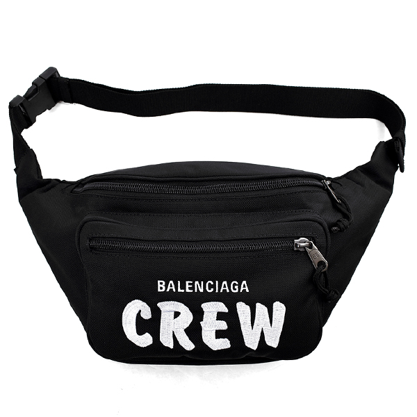 CREW LOGO BELT BAG/BLACK